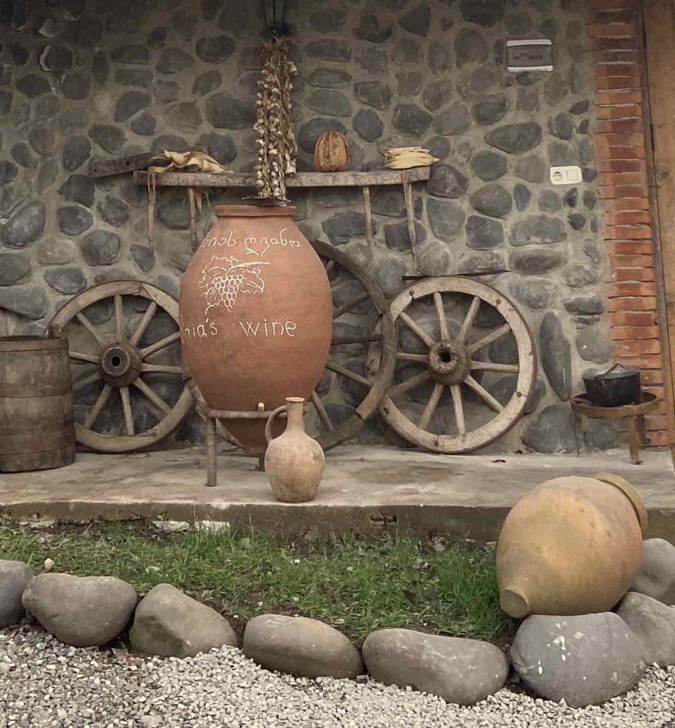 decorative qvevri at Baia's Wine