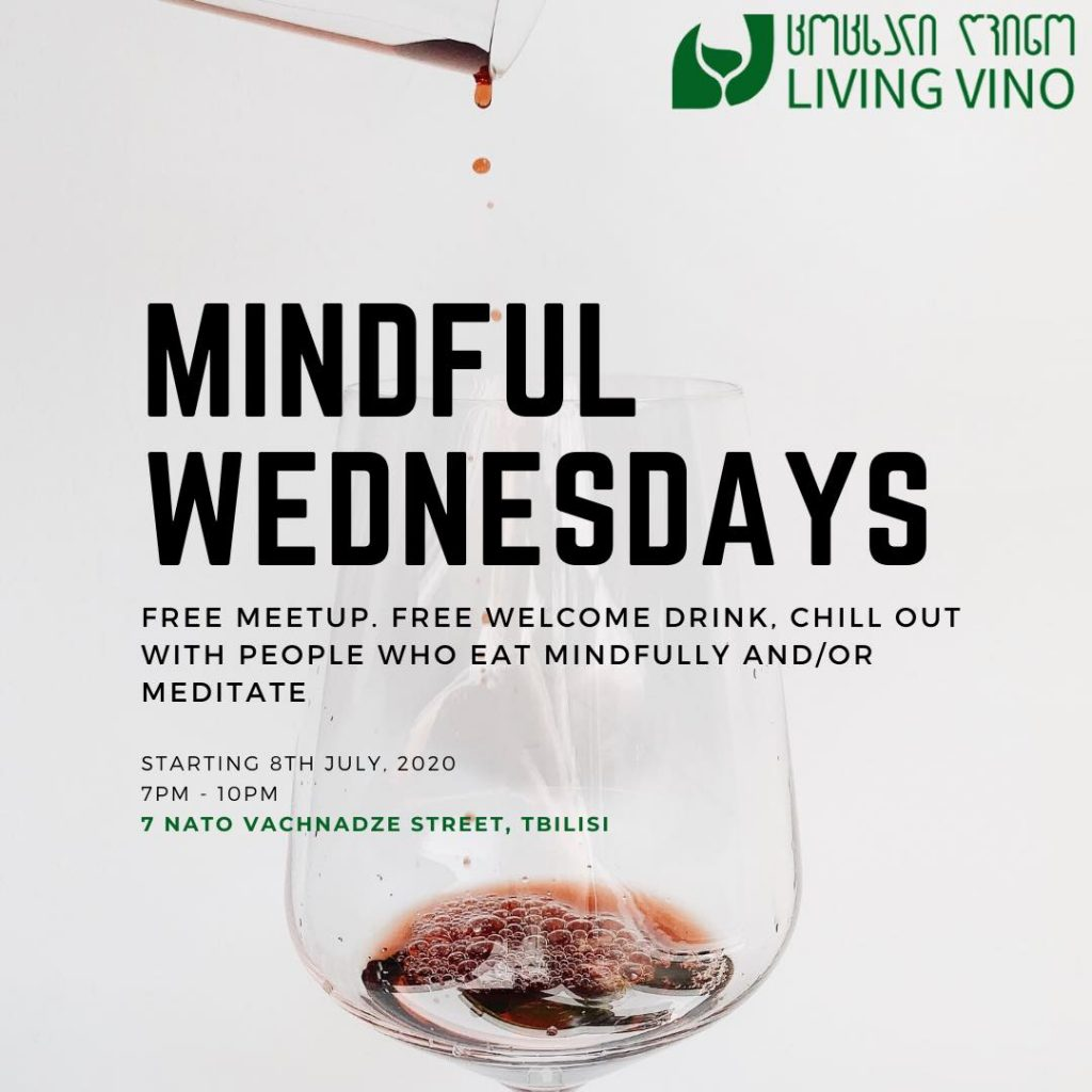 mindful wednesdays at Living Vino