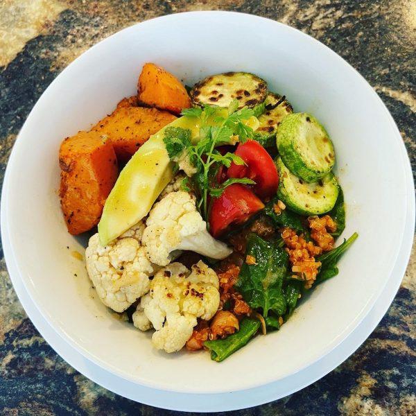 French lentils bowl