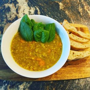 Zen red lentils soup