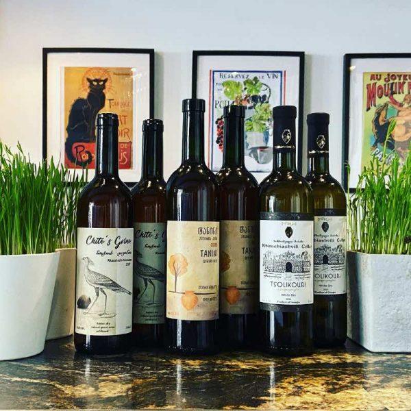 autumn wine case - orange wines