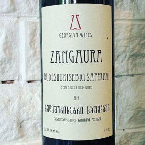 Budeshurisebri Saperavi Zangaura semi sweet red wine