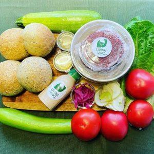Recipe Box - vegan burger night for 4