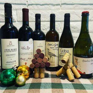 festive wine case
