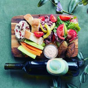 mezze sharing and natural wine